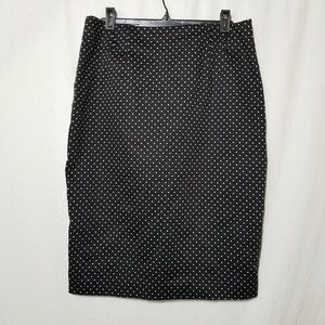 Amanda + Chelsea black with white polka dot skirt